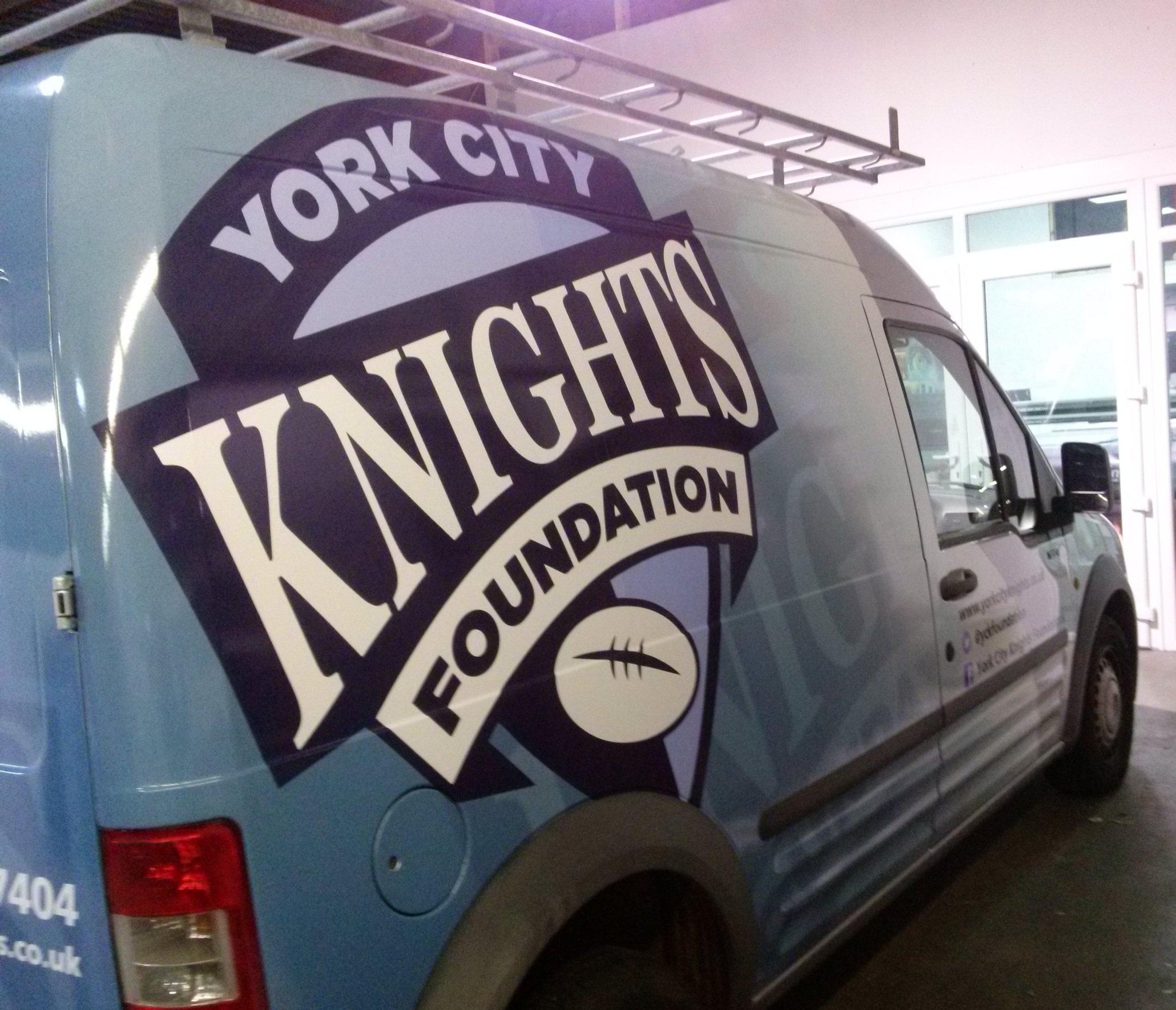 YORK CITY KNIGHTS   Full vehicle van wrap.