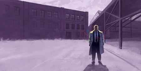 Orpojen Brooklyn, kuvittaja / illustrator Ossi Hiekkala