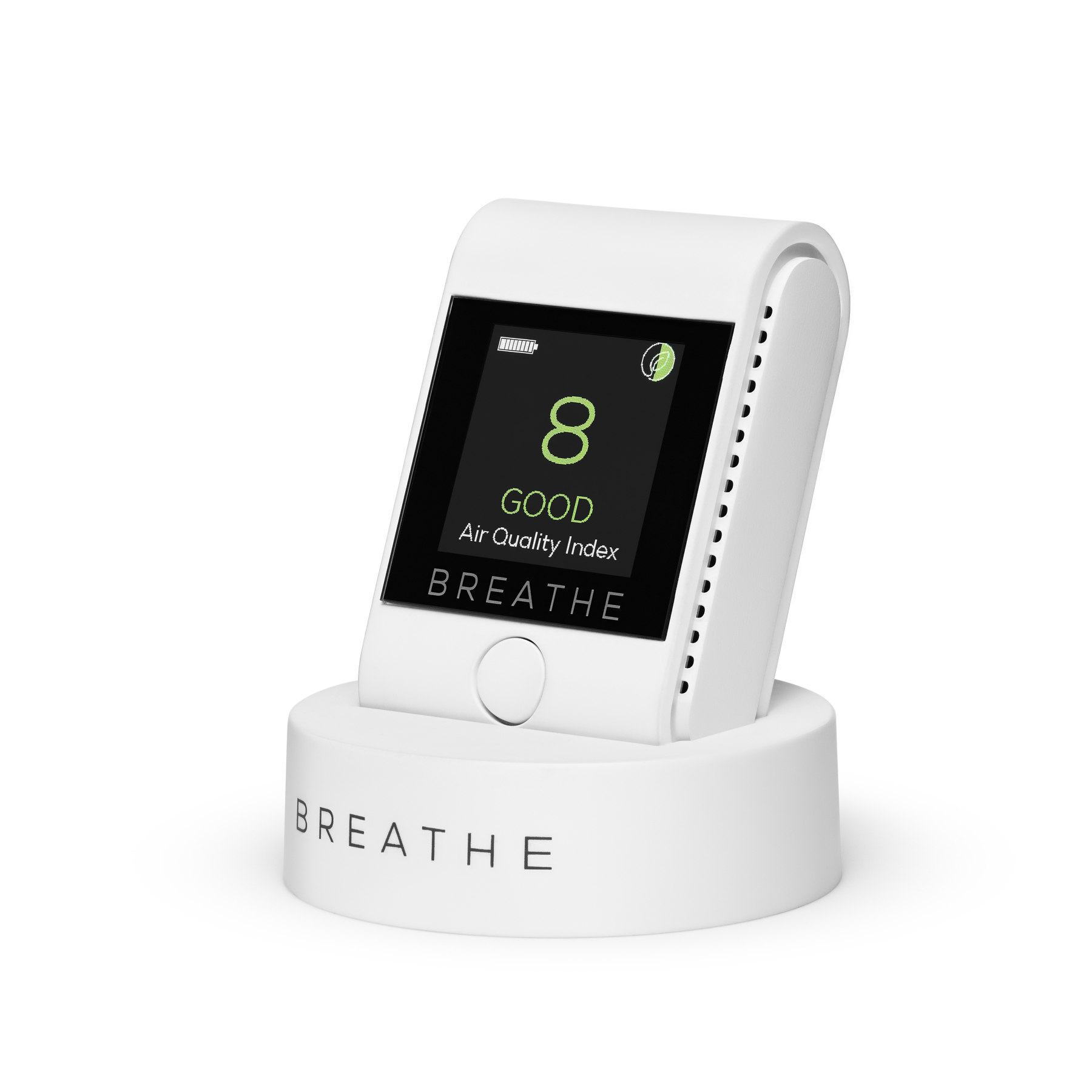 BREATHE Smart air quality monitor front angle.jpg