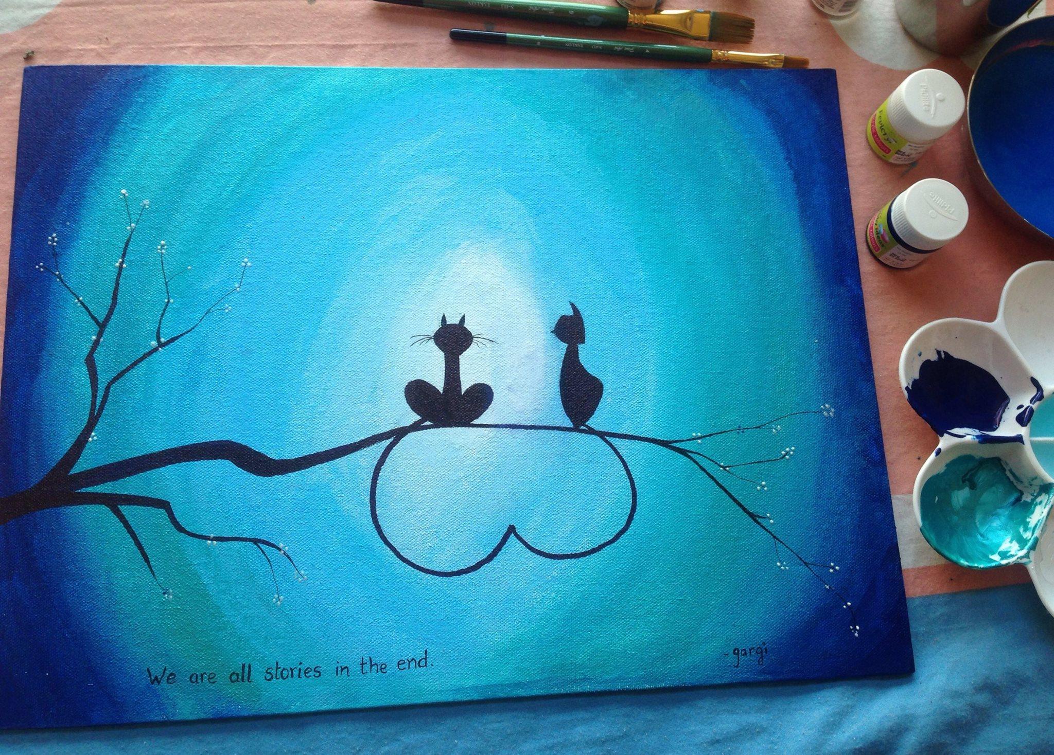 Making art... making stories