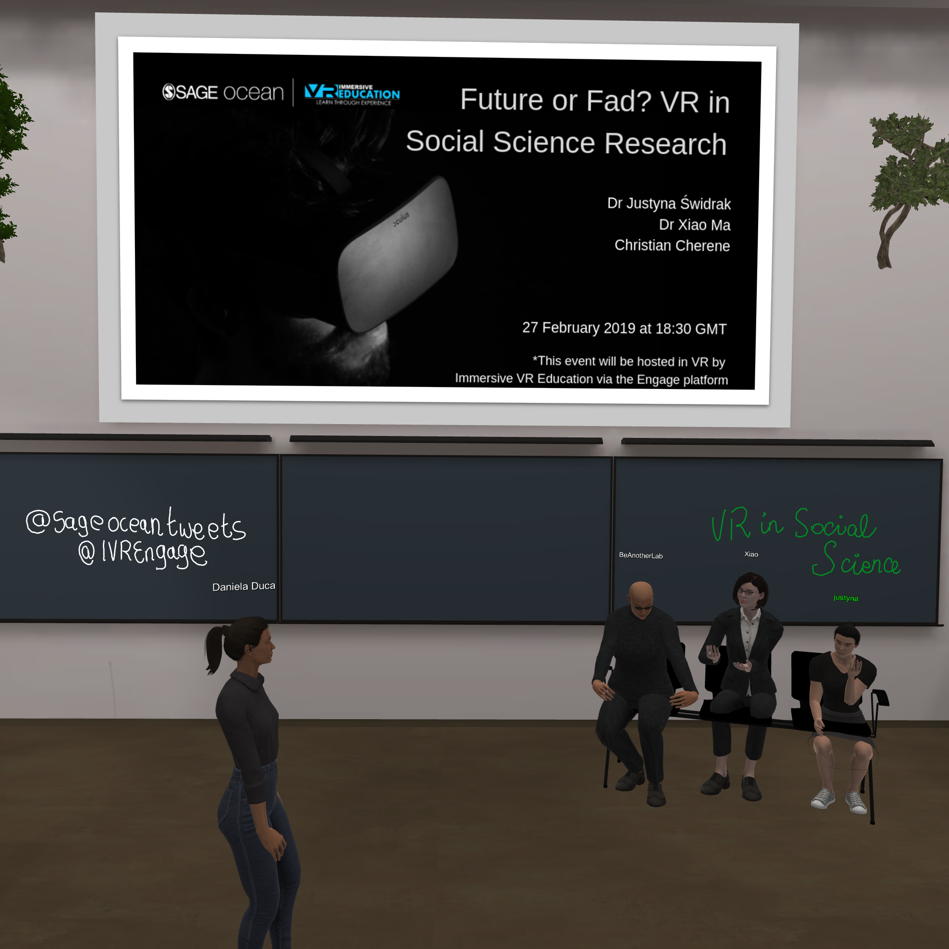 The pictures in this blog were snapped inside the virtual room using our virtual tablets
