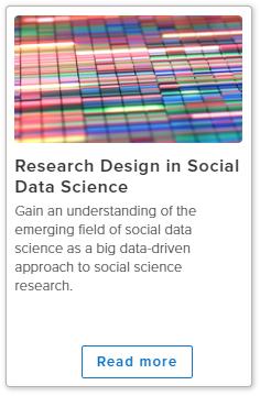 社会数据科学研究设计。在线课程图像