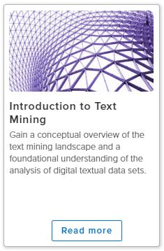 文本挖掘介绍。在线课程图像