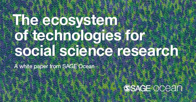 在绿色背景的白皮书标题:社会科学研究的技术生态系统