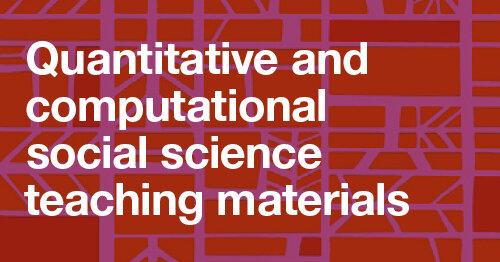 白色文本:在红色背景的定量和计算的社会科学教材beplay官网ios