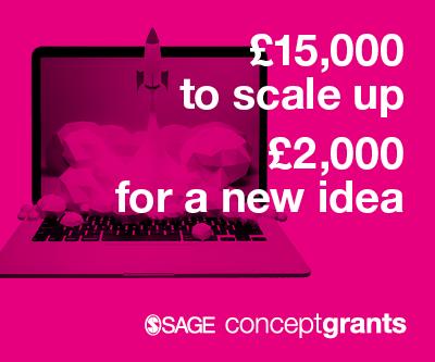 15000英镑用于扩大规模,2000英镑用于一个新想法:SAGE概念补助金