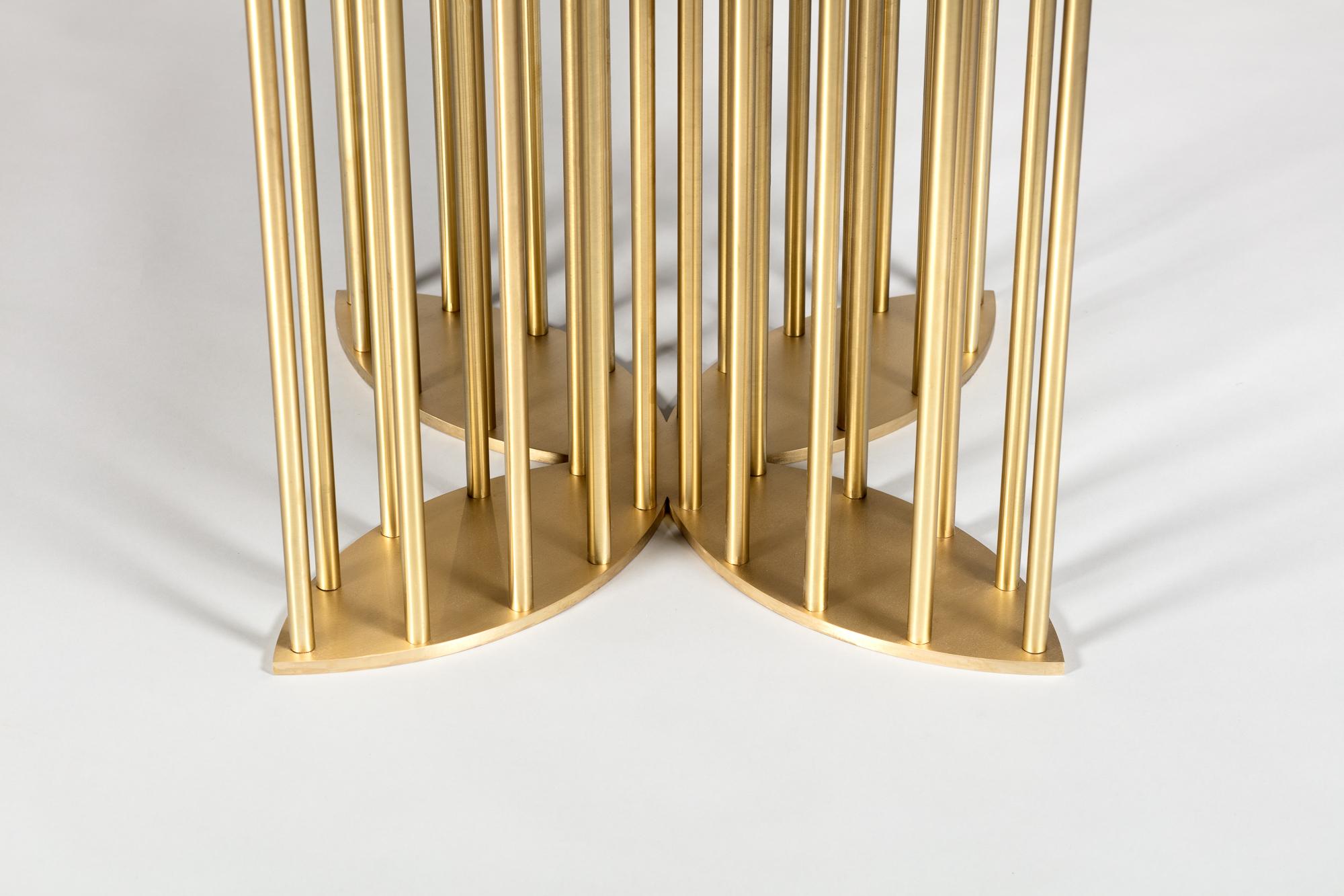 Top : Walnut   Base : Solid Brass