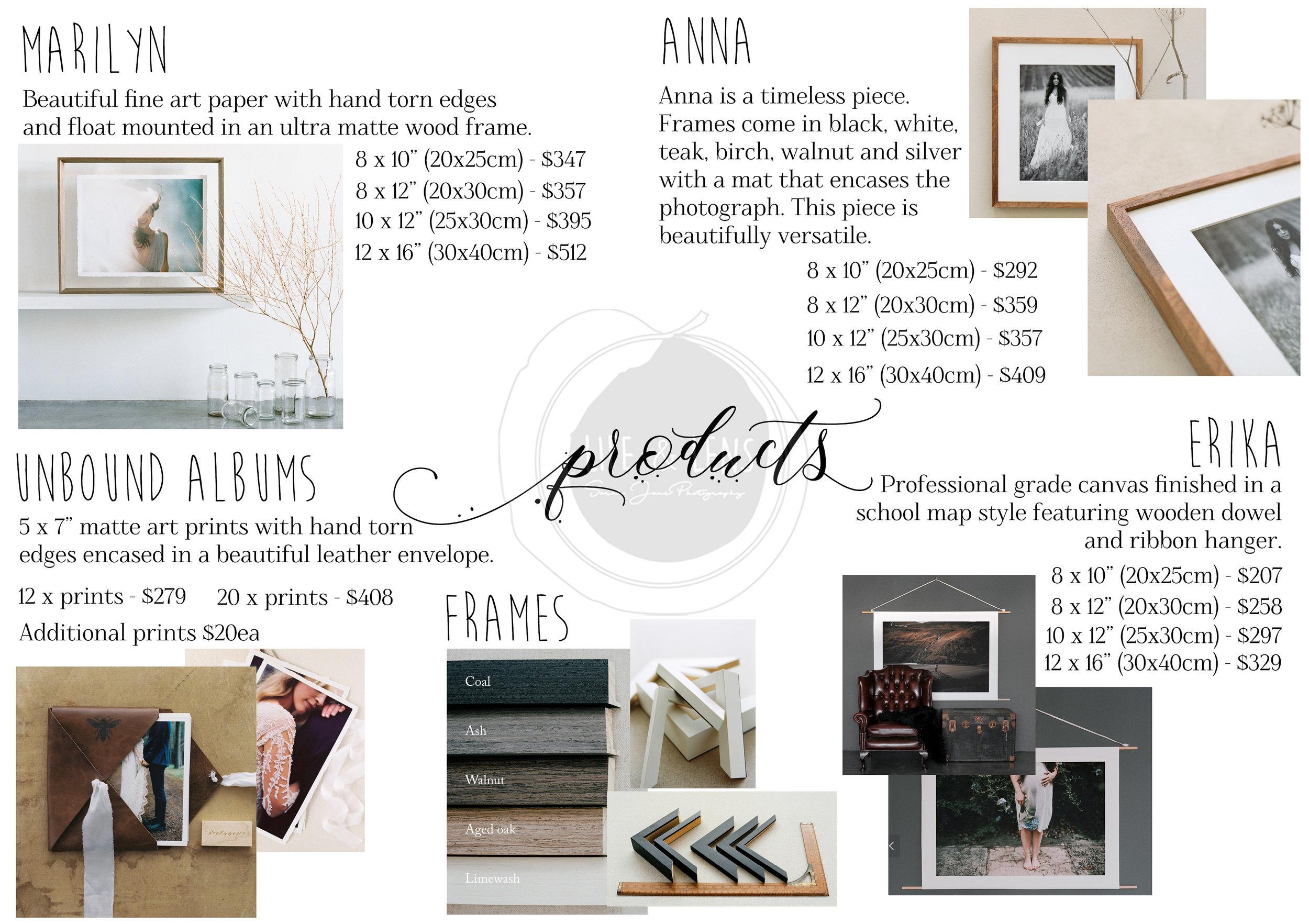 sydney birth photographer products list