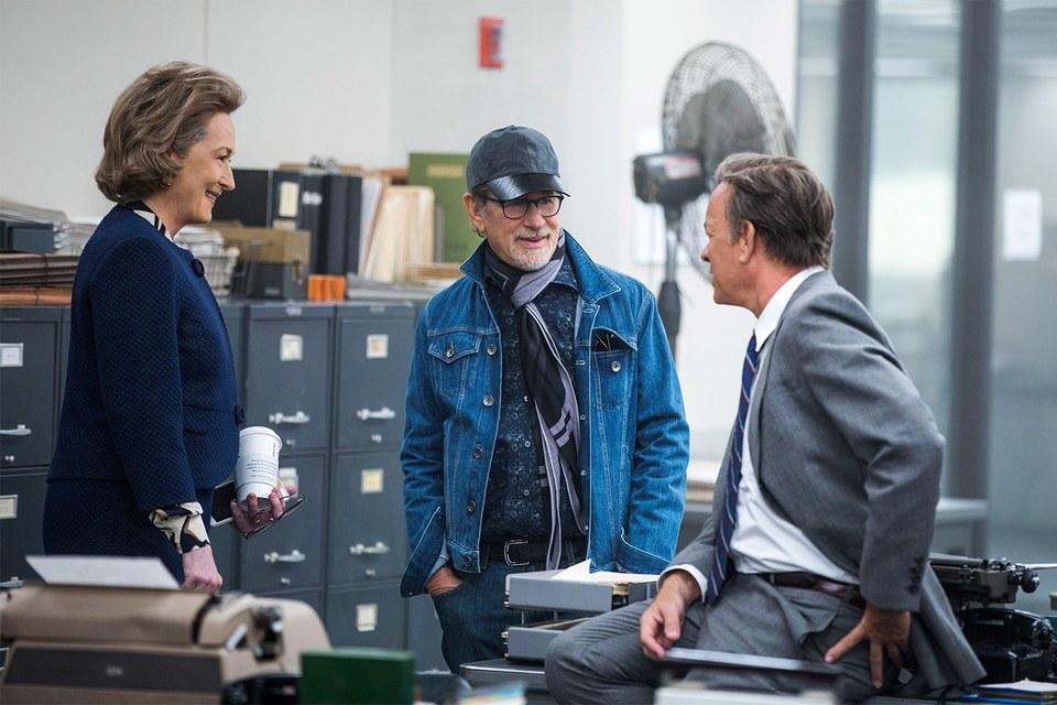 Tom Hanks and Meryl Streep in Steven Spielberg's  The Post. By Niko Tavernise/Twentieth Century Fox.