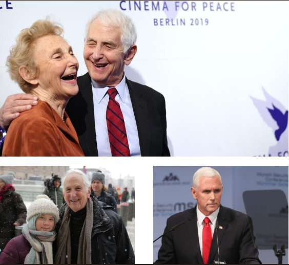 Cinema for Peace honoree Daniel Ellsberg was the Greta Thunberg of the Munich Security Conference 2019 - speaking out clearly what needs to be done to secure a safer world. The nuclear war planer warned of a nuclear doomsday.