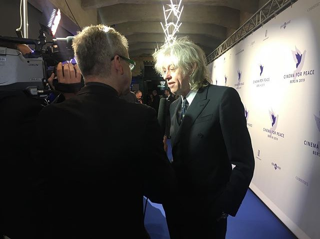 Good to have you Mr. #BobGeldof at #cinemaforpeace2019