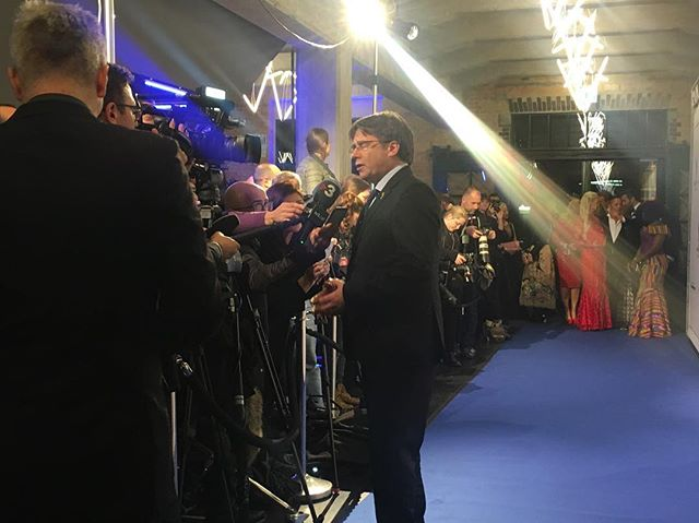 Welcome Mr #Carles Puigdemont at #cinemaforpeace2019 Gala