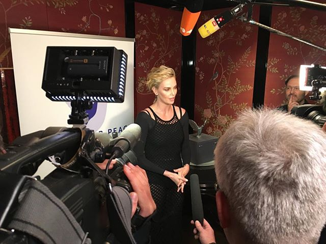 @charlizeafrica talking about her Africa Outreach Project at #cinemaforpeace #berlin #cinemaforpeace2019 About the project: http://charlizeafricaoutreach.org