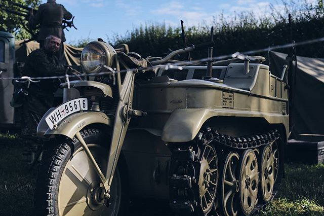 Next vehicle, how about a half track motorcycle... It won't get anywhere fast but it will get everywhere! - #roadtripping #vanlife #ww2 #ww2history #militaryvehicle #camperlife #ww2vehicles #historicvehicle #adventureawaits  #adventureisoutthere #adventuremobile #overland #roadtrip #overlander #adventurevehicle #militaryhistory #motorcycle #offroad