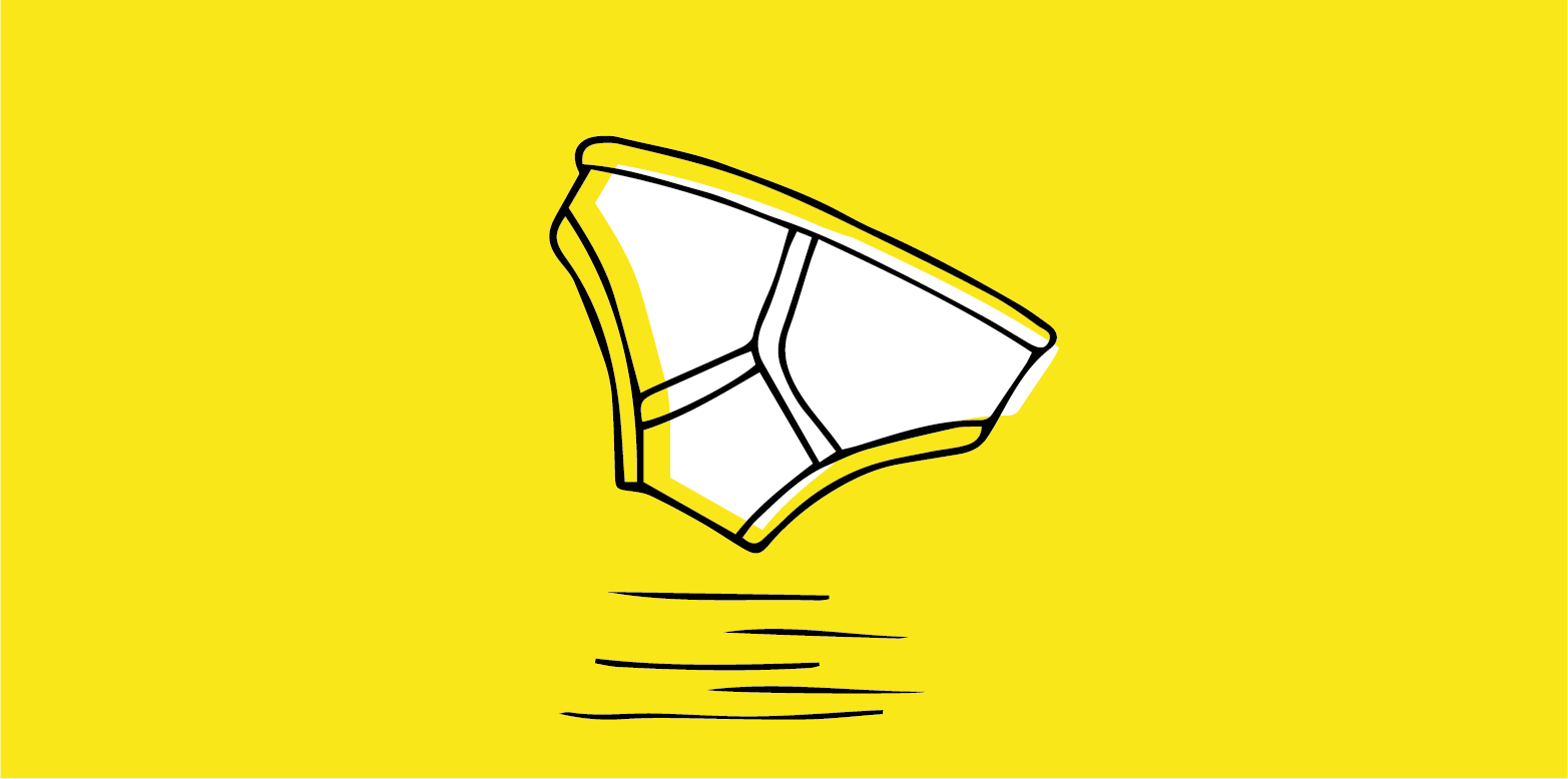illustration of y-front briefs