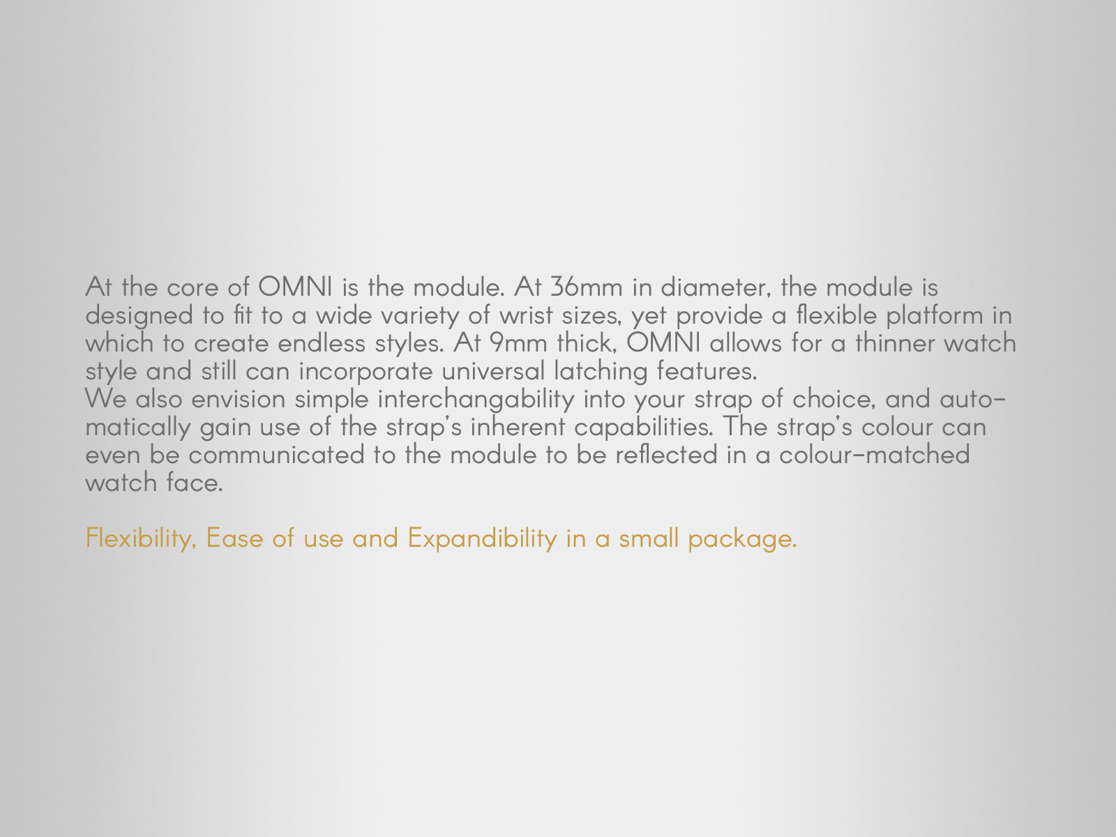 A statement about the core Omni module