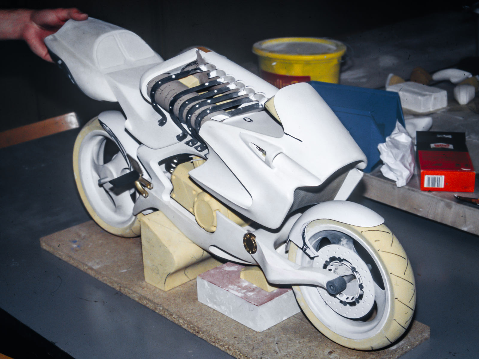 The scale H2 model in white colour, after sanding and prior to painting