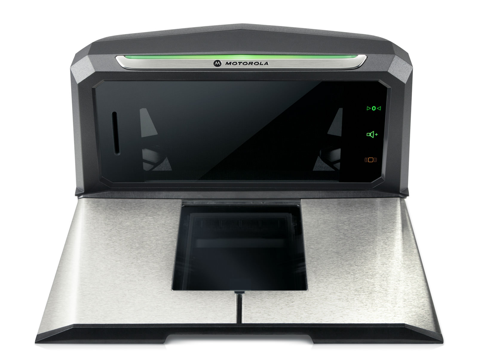 Front view of the MP6000 Bioptic scanner