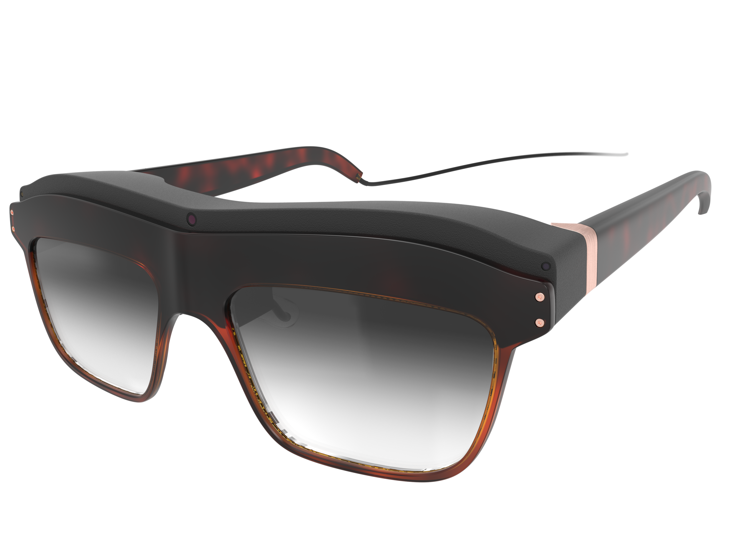 Front perspective view of the woman's concept design WaveOptics glasses