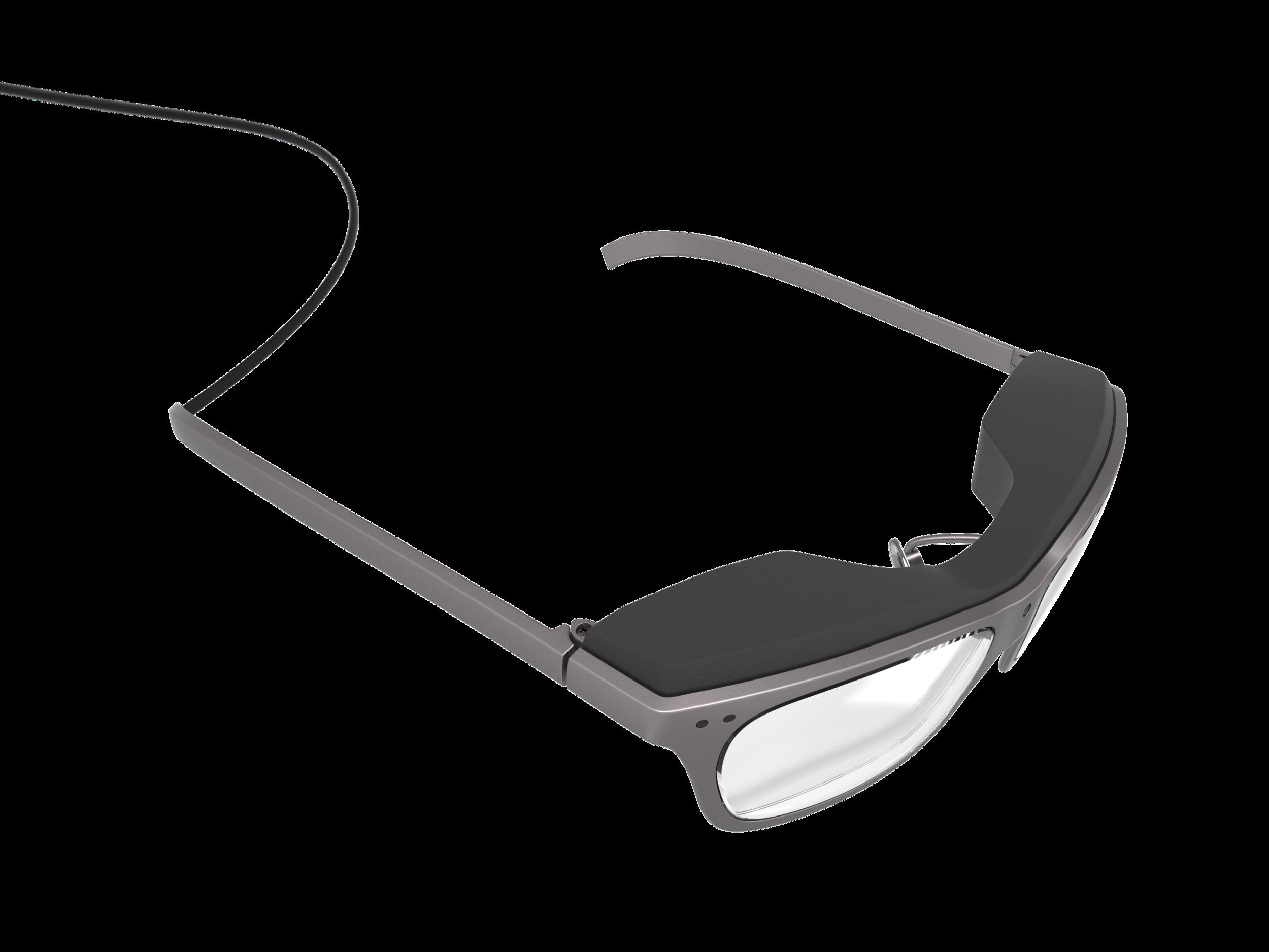 Top perspective of the man's concept design WaveOptics glasses