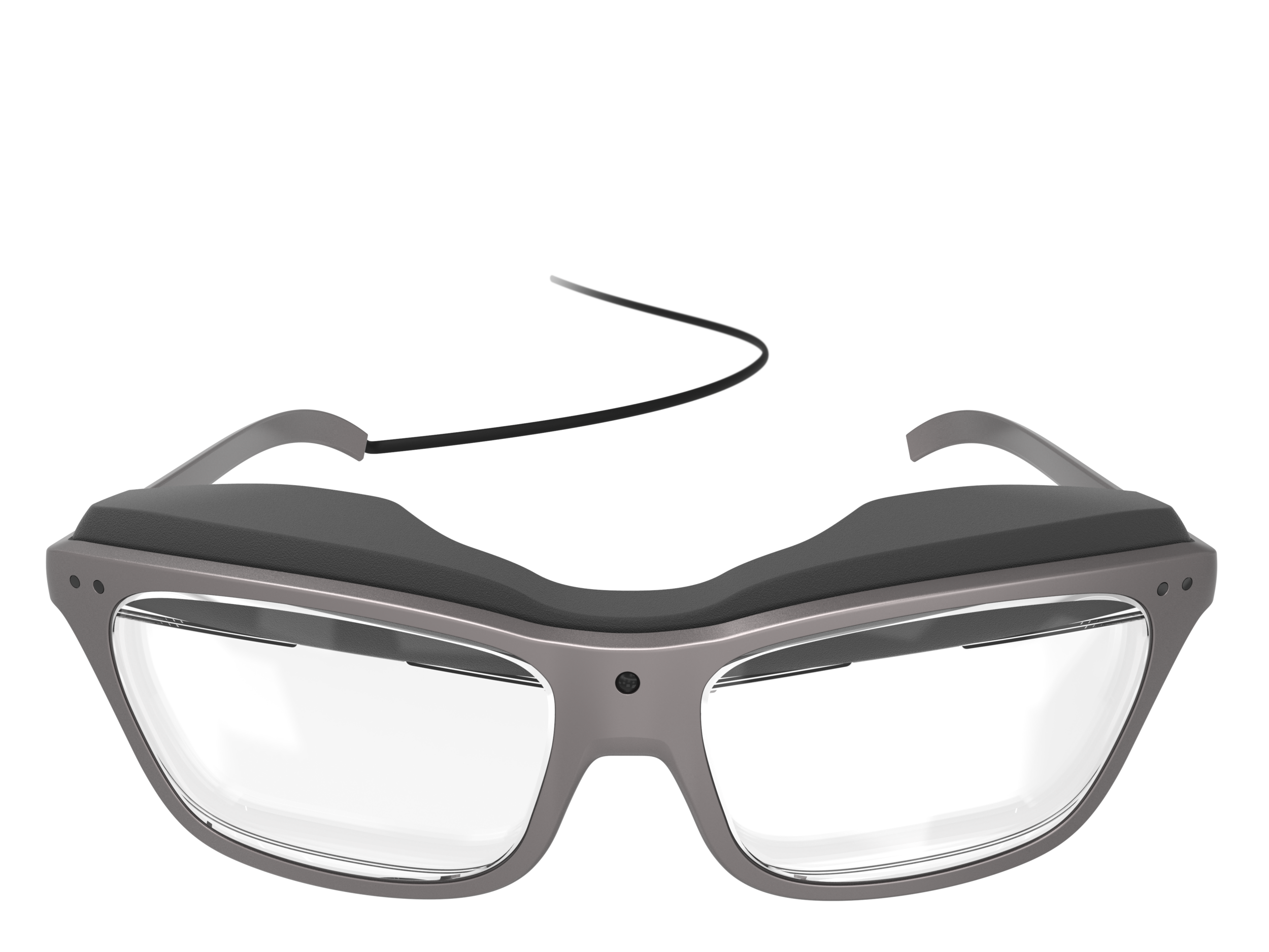 Front view of the man's concept design WaveOptics glasses
