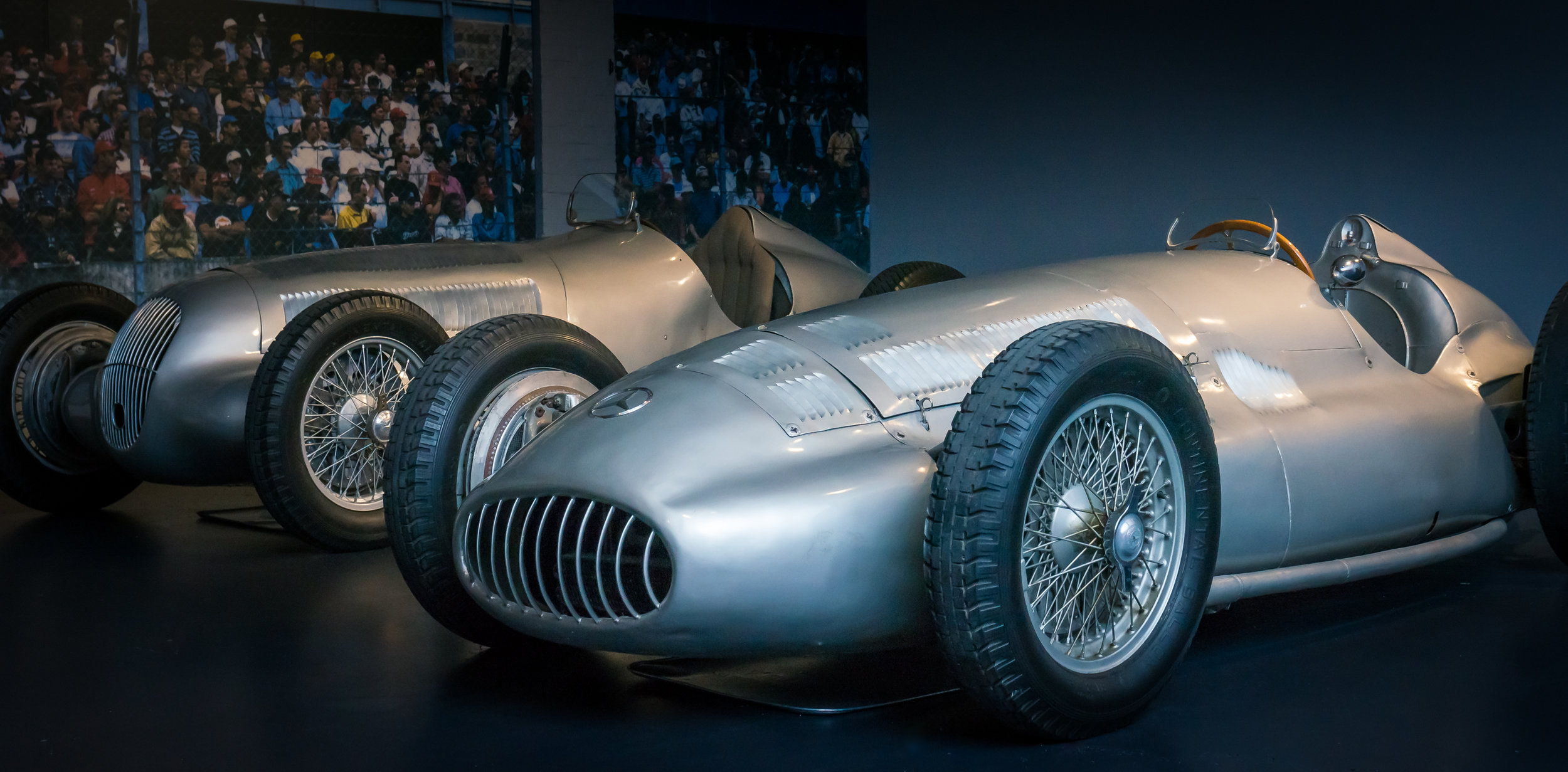 Mercedes-Benz W154 (1938) and Mercedes-Benz Type W125 (1937) in the background (Credit: Paul Scarfe)