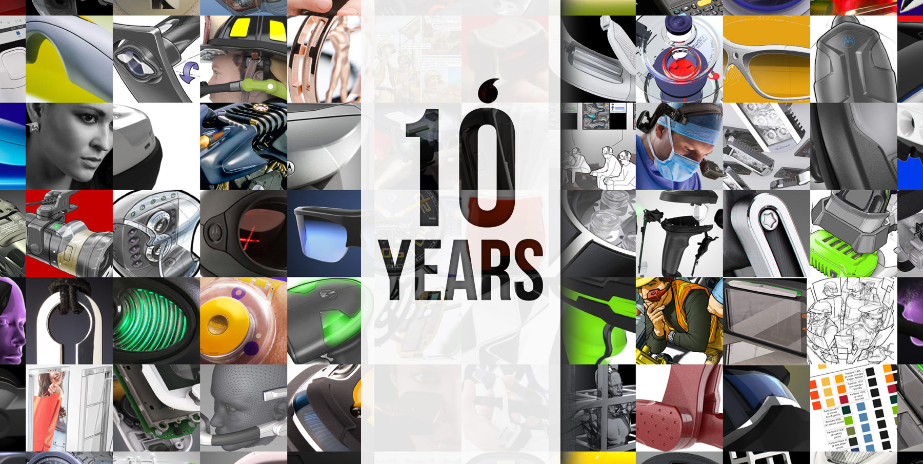 10 years collage of multiple Thinkable Studio projects
