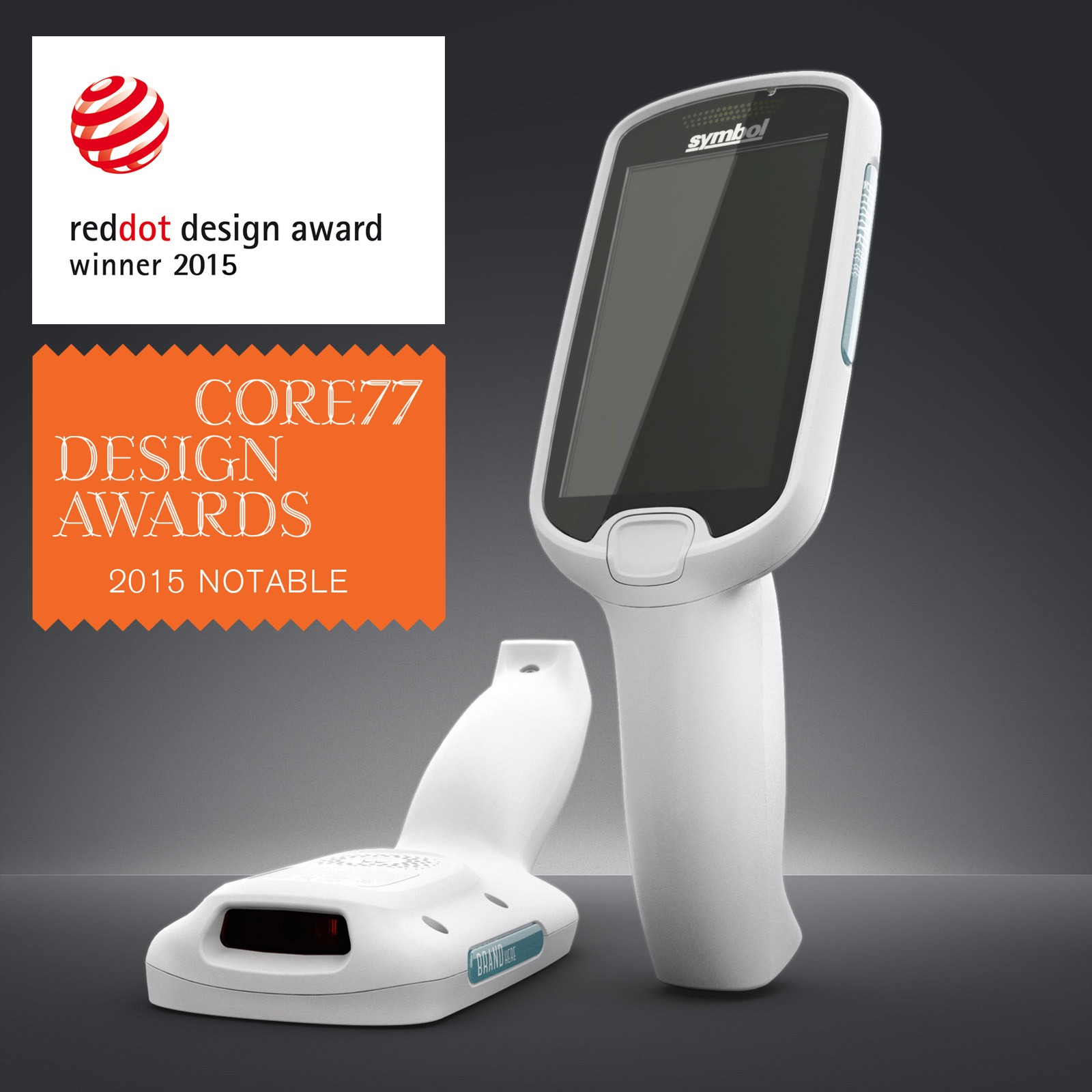 Two MC18s against a grey background with the Red Dot and Core77 award logos