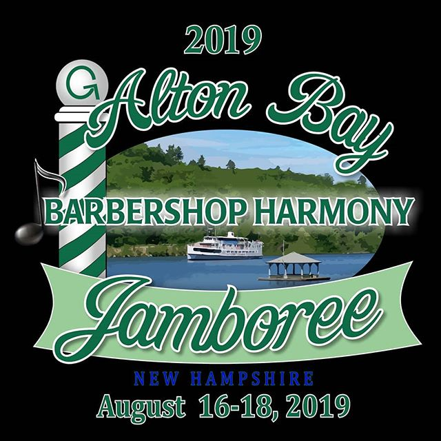 "Have you heard? We're back in action this weekend as featured guests at the 59th annual Alton Bay Barbershop Jamboree! In addition to the usual informal tag singing all weekend (grab us and sing with us!), we'll be ""judging"" the mock quartet contest on Saturday afternoon, as well as performing on the Big Show on Saturday night.  Hope to see you there!  #altonbay #bbshopjamboree #eatdrinksingbemerry #featuredguests #thebigshow #summertime"