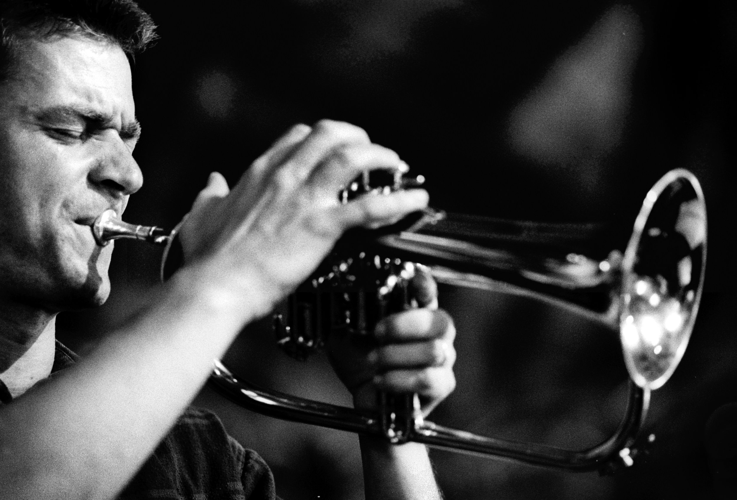 Jakob Buchanan fra Aarhus Jazz Orchestra på flügelhorn. Foto: Per Bergman