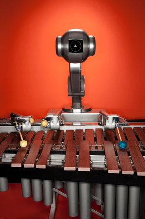 Aarhus Jazz Orchestra Shimon the robot Concert