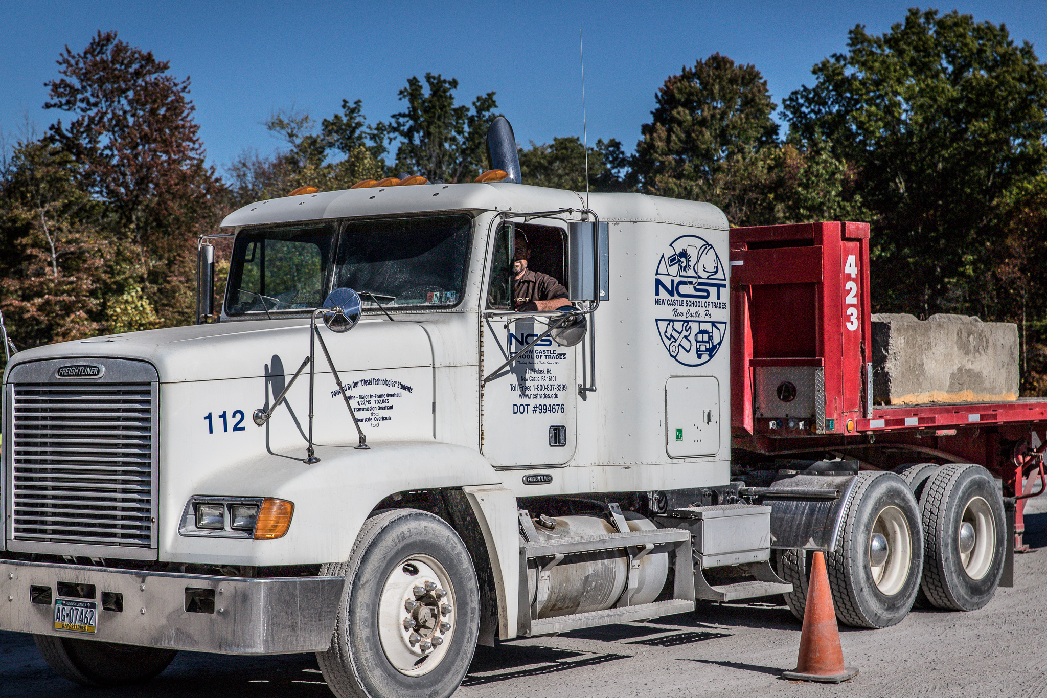 Commercial Truck Driving - The objective of the commercial truck driving course is to qualify students for entry level positions as drivers in over-the-road or local driving vehicles. The focus of the course is on basic information about trucks, truck driving, and the trucking industry and the fundamentals of operating trucks and tractor trailers. No prior education or experience with trucks is required. The student, however, must meet the driver qualifications set forth by the Federal Motor Carrier Safety Administration (FMCSA) and pass the physical examination requirements set forth by the Department of Transportation (D.O.T.).