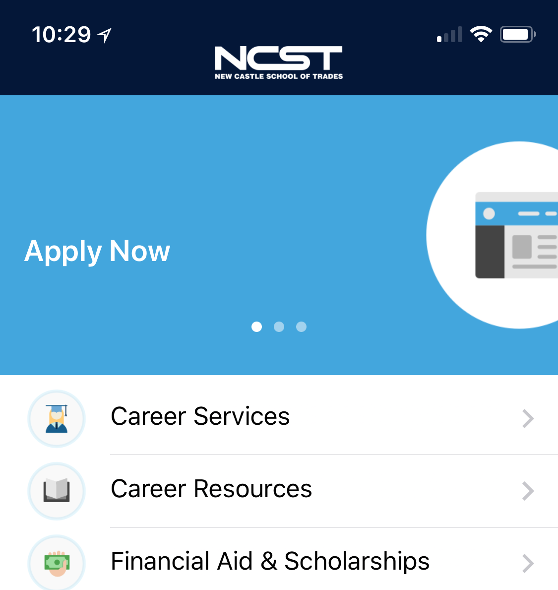 Learn about New Castle School of Trades, Stay In Touch, and Apply from your mobile device. - Begin Your Journey