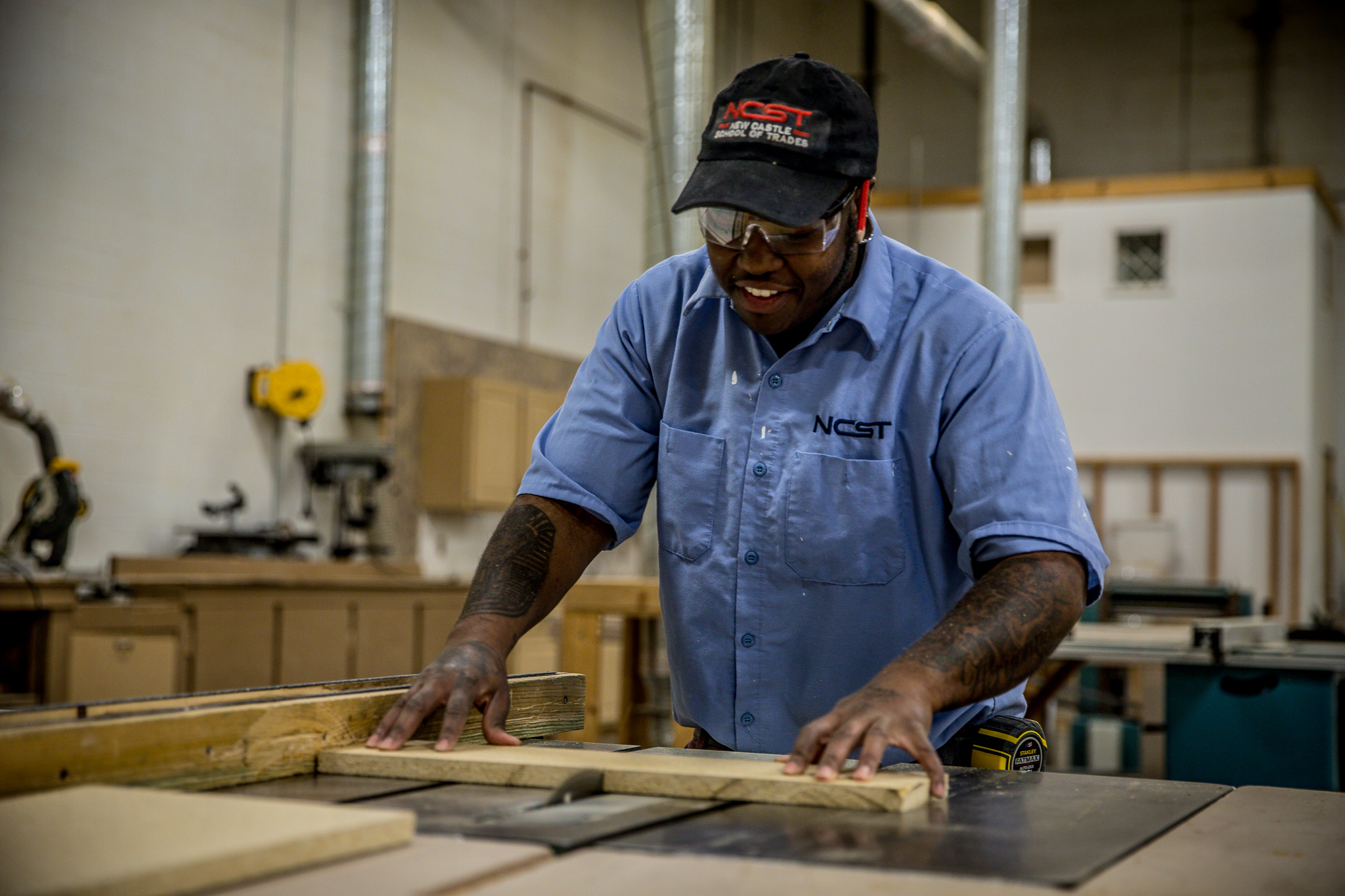 """Building Technology - This curriculum is designed to provide classroom, lab and """"hands-on"""" training in the residential construction and remodeling fields; with particular emphasis placed on the fields of carpentry, millwork, masonry, interior and exterior finishes, and roofing for entry-level positions in a number of areas."""