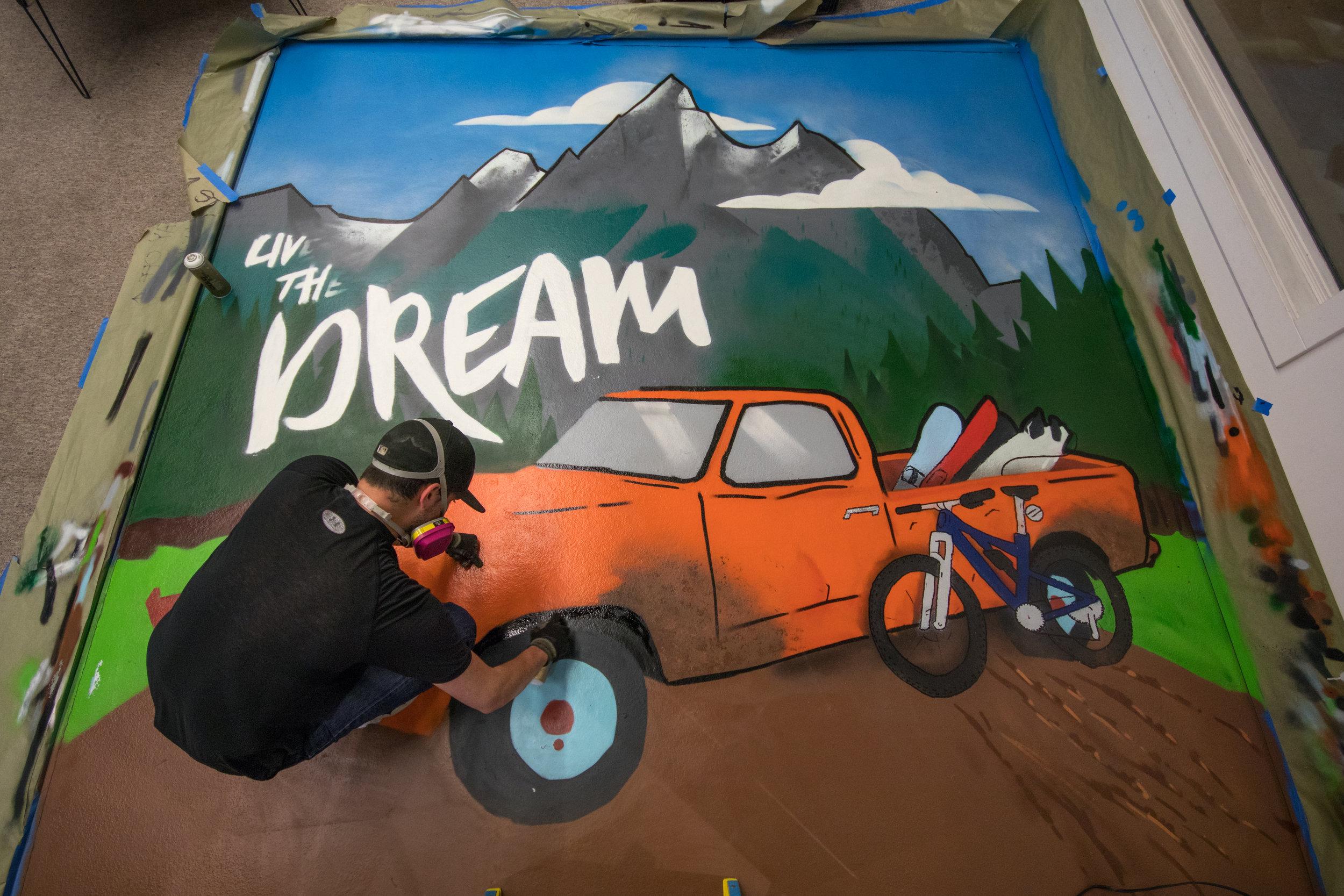 TGR mural -