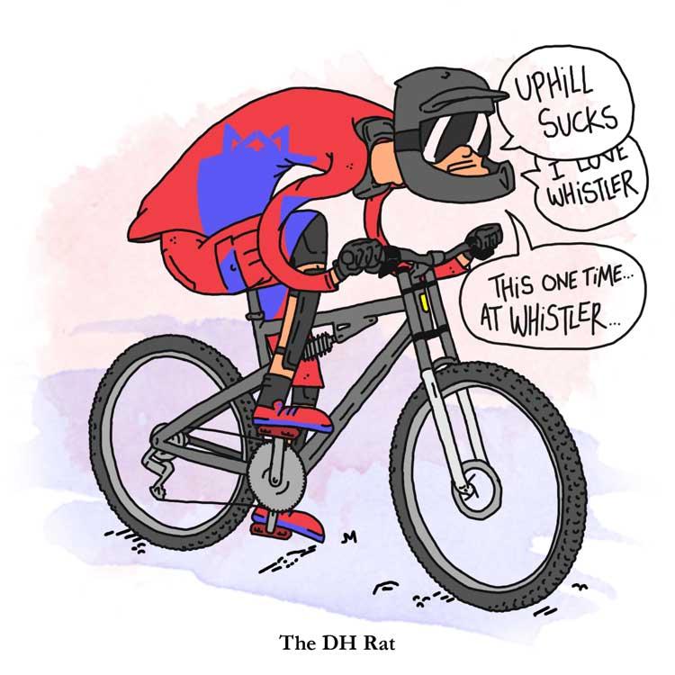 The DH Rat Mountain Biker
