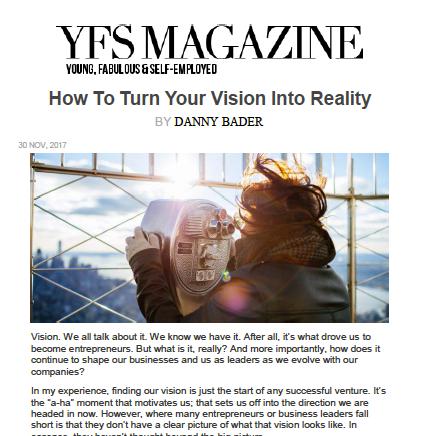 Featured in YFS Magazine