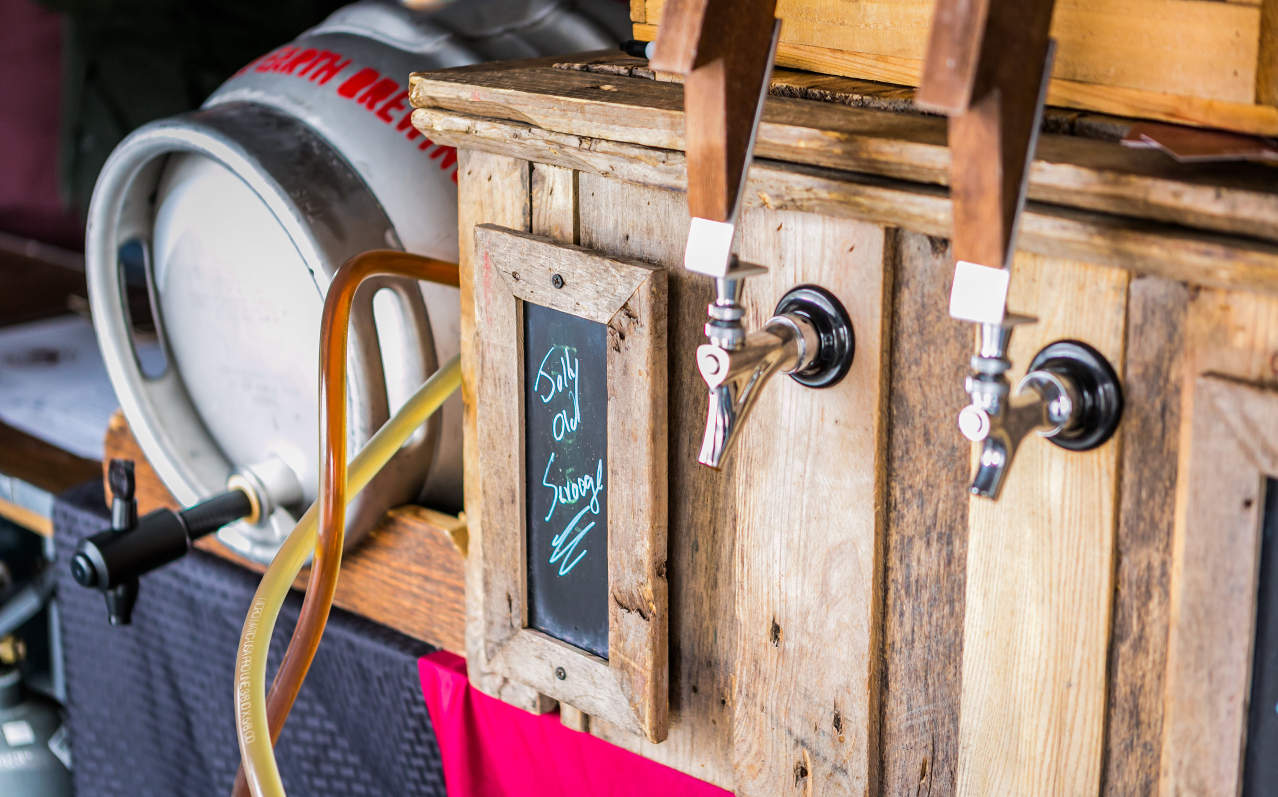- Cask conditioned tent