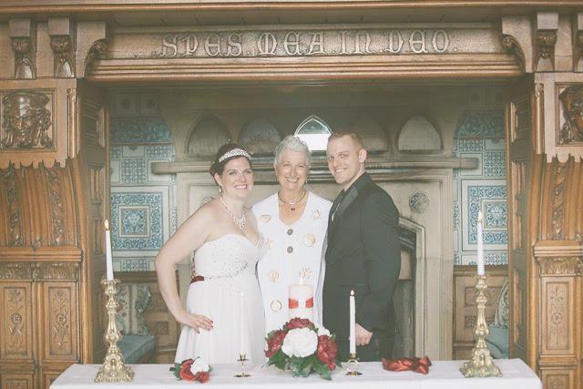 Happy Celtic Wedding ceremony photo