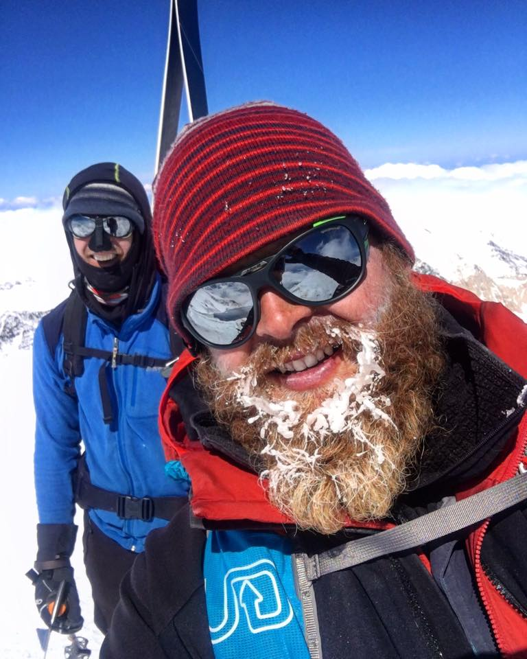Joey Bear + Trav on the summit of Denali. 2017. They would assist with three crevasse rescues on the descent.