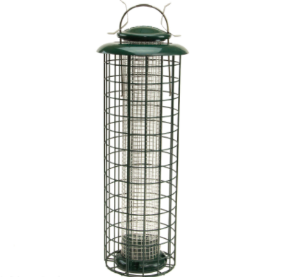 Caged Screen Black Oil Sunflower or Peanut Feeder. Capacity 1.25 lbs.