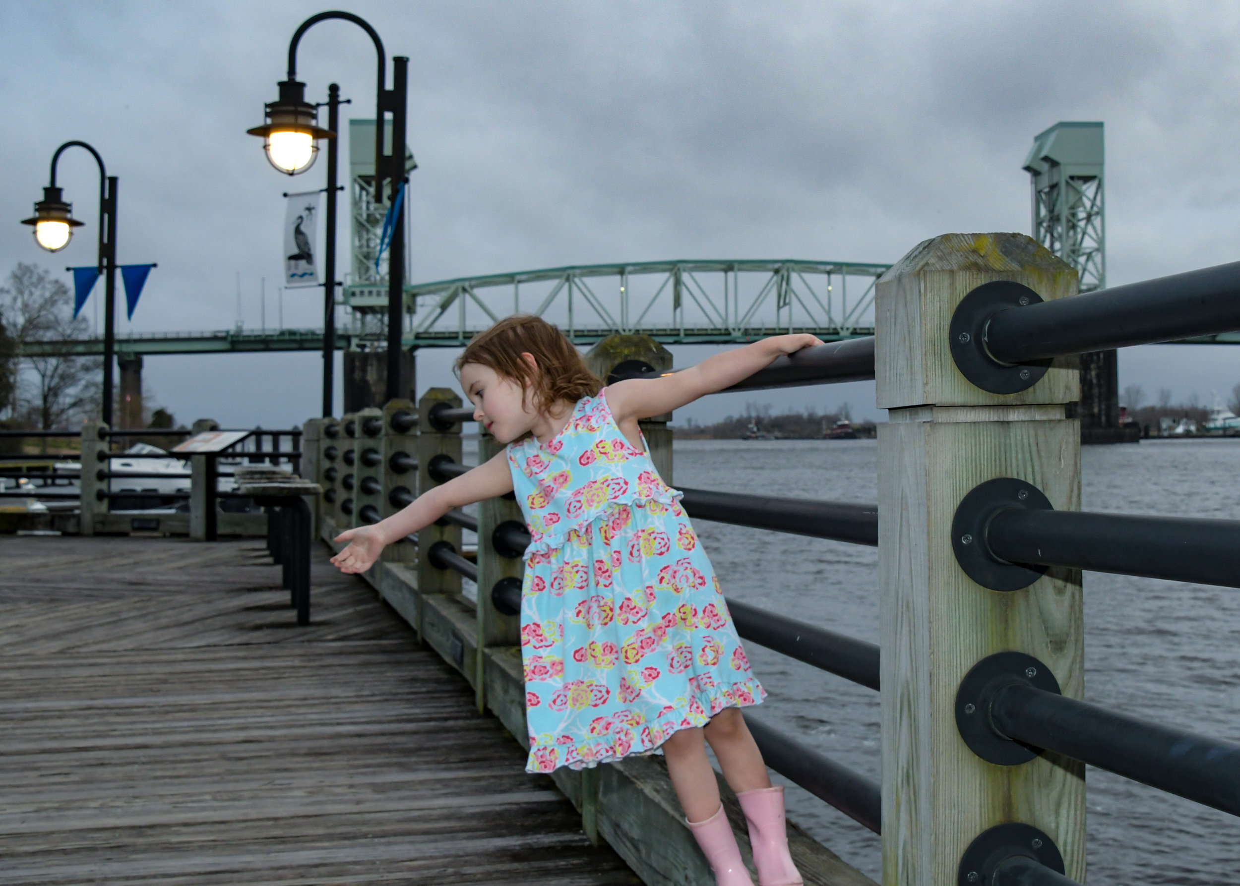 - Playing down by the river in downtown Wilmington, NC.