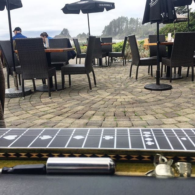 Pretty sweet spot to play for the afternoon... #pedalsteel