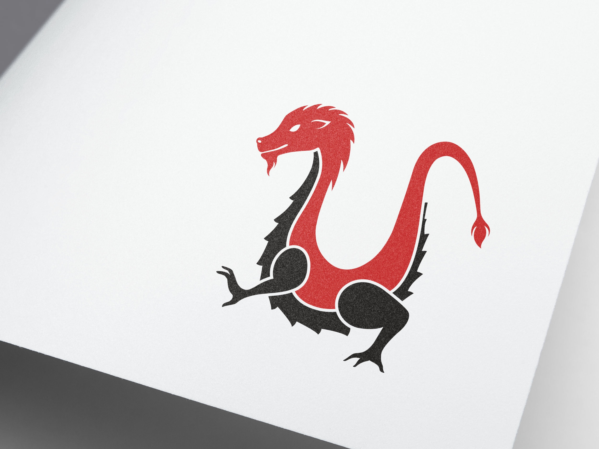 Udon Dragon logo design.