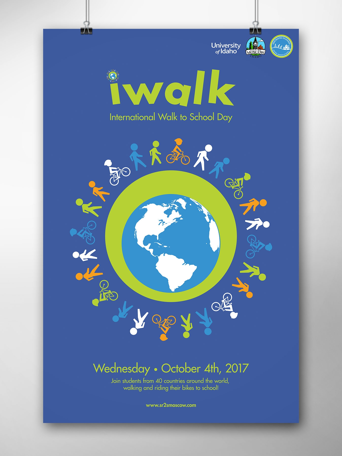 Safe Routes to School IWalk poster.