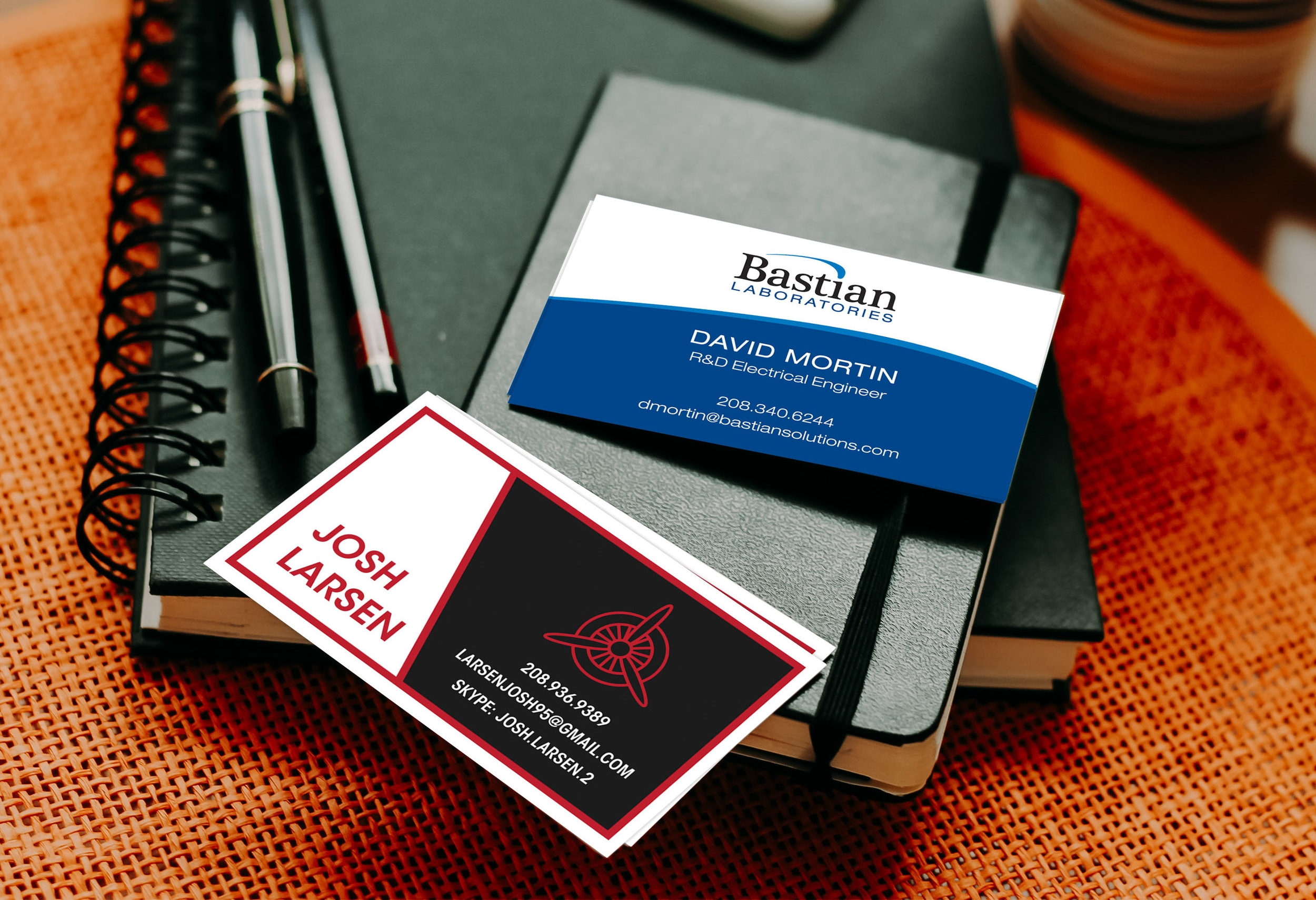 Business card final design mockup.