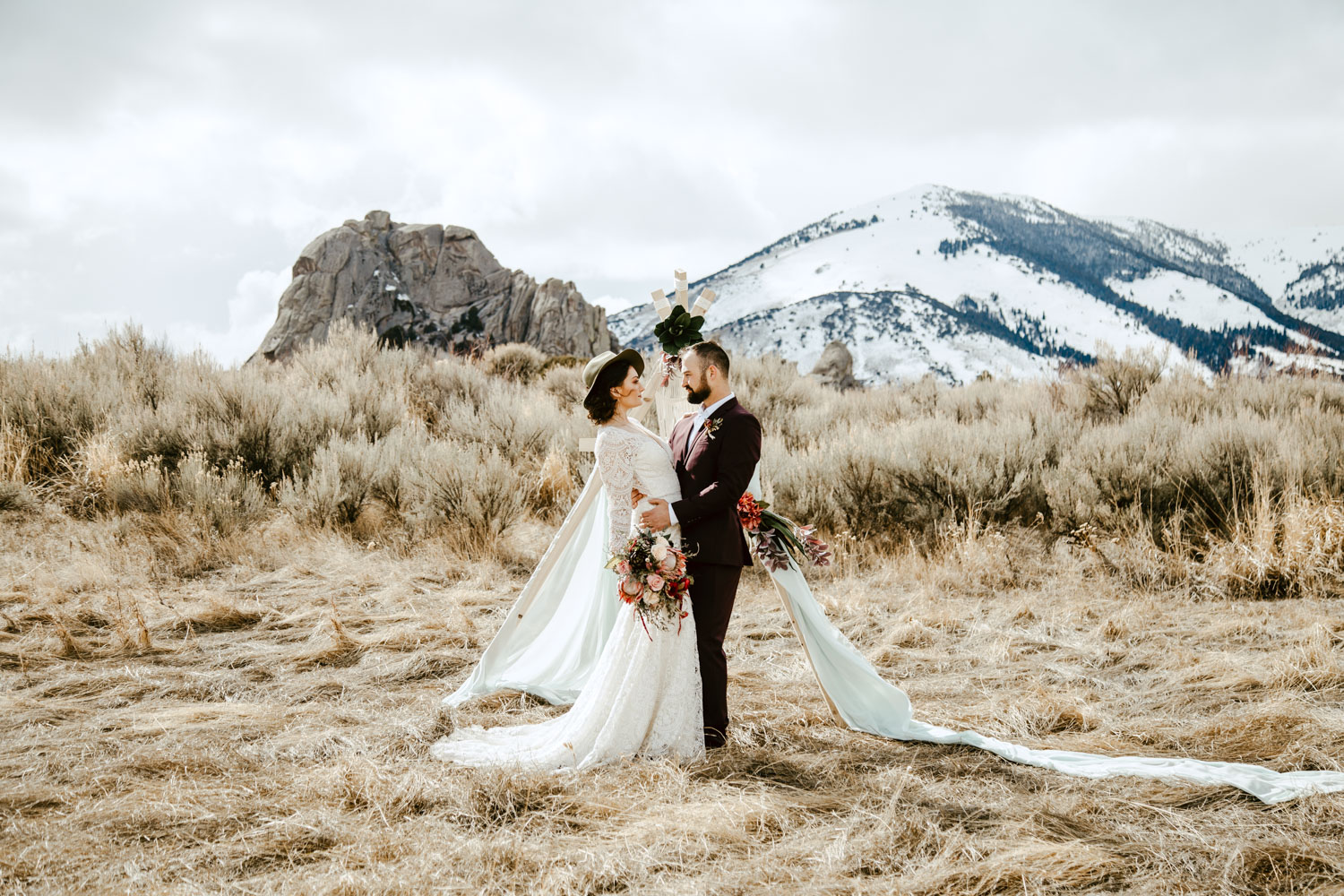 Boise Wedding and Engagement Photographer at Castle Rocks and the City of Rocks in Almo Idaho.