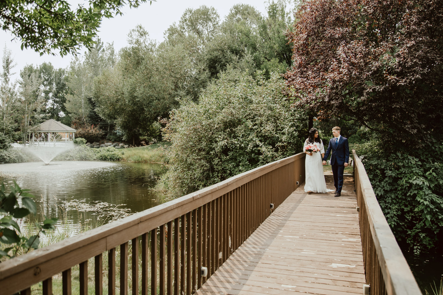 Boise Wedding and Engagement Photographer at the Alpine Pond Events Center.