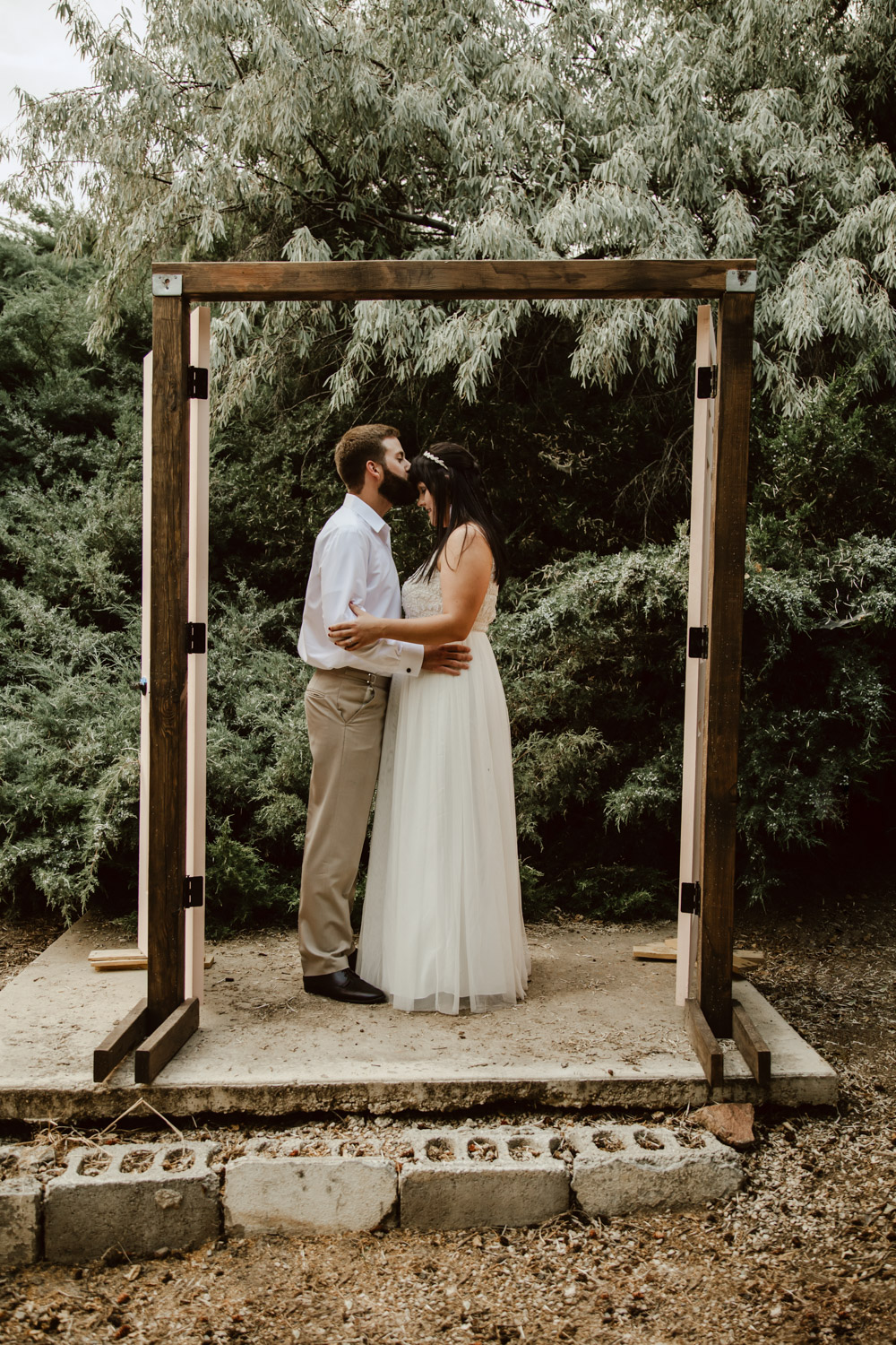 Boise Wedding and Engagement Photographer at the City of Rocks and Castle Rock, wedding dress.
