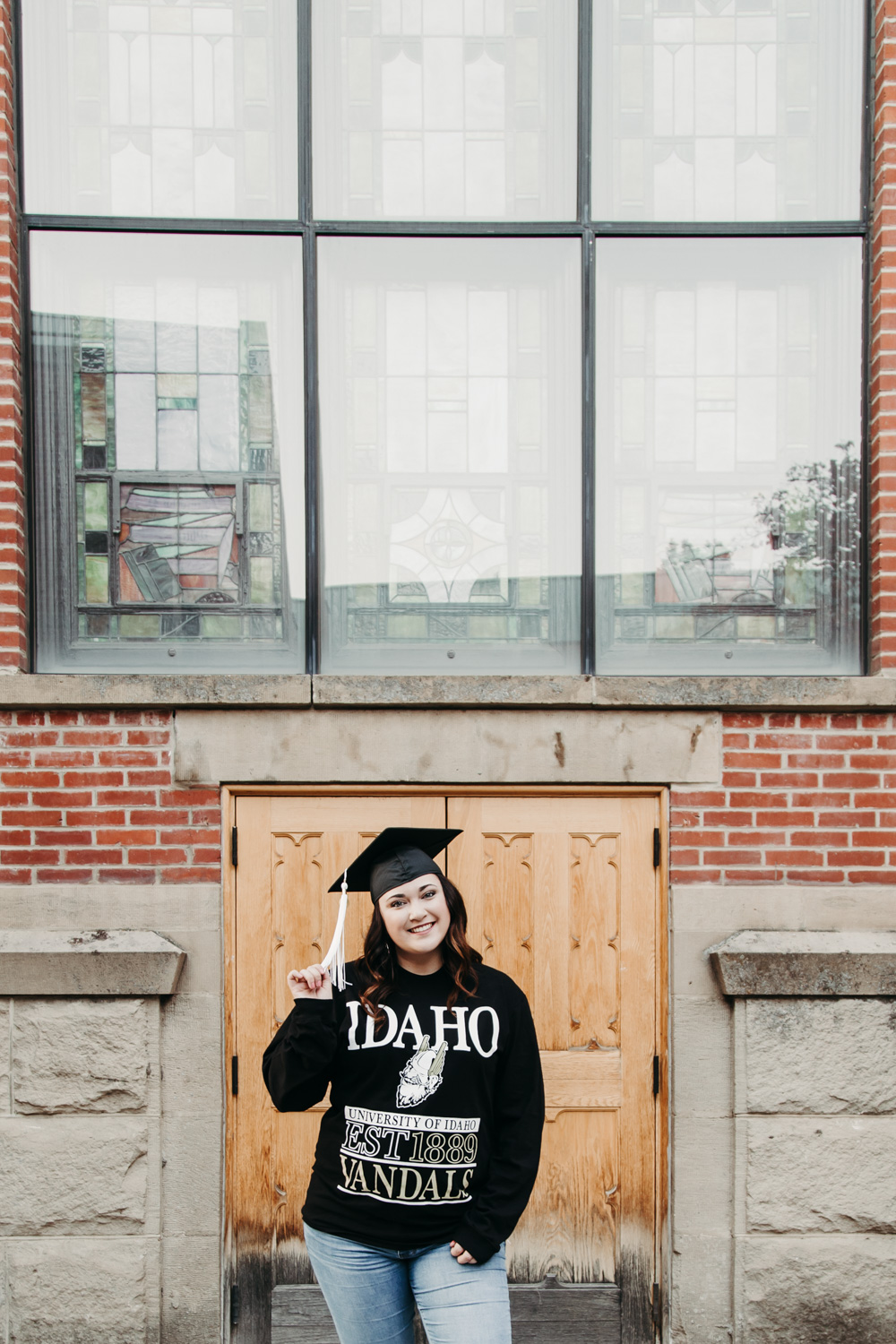Boise Senior Photographer with Kayla at the University of Idaho campus.